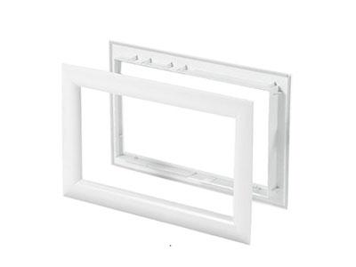 Beyaz Çerçeveli Seksiyonel Kapı Penceresi