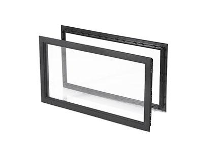 Siyah Çerçeveli Seksiyonel Kapı Penceresi